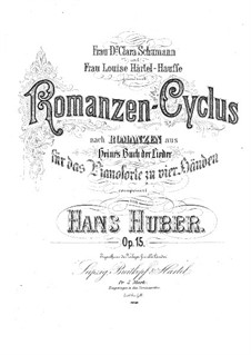 Cycle of Romances for Piano Four Hands, Op.15: Cycle of Romances for Piano Four Hands by Hans Huber