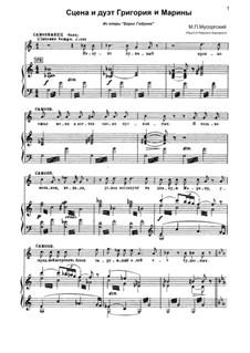 Fragments: Сцена и дуэт Григория (Самозванца) и Марины by Modest Mussorgsky