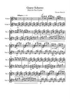 Gypsy Scherzo: For two violins by Th.Mann