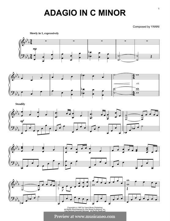 Adagio in C Minor: Adagio in C Minor by Yanni
