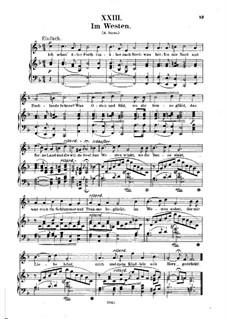 No.23 Im Westen (Dans l'ouest): Piano-vocal score (German text) by Robert Schumann