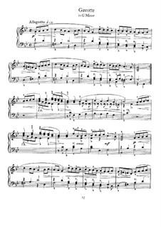 Gavotte in G Minor: For harpsichord by Johann Sebastian Bach