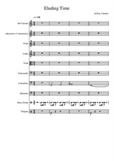 Eluding Time: For symphonic band by Jeffrey Cumber