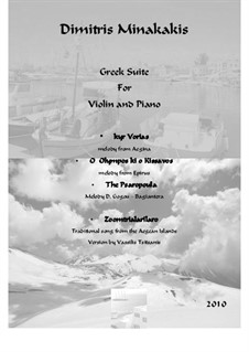 Greek suite for Violin and Piano: Greek suite for Violin and Piano by folklore