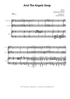 And the Angels Sang: Duet for Soprano and Alto Saxophone by Felix Mendelssohn-Bartholdy, folklore, Richard Storrs Willis
