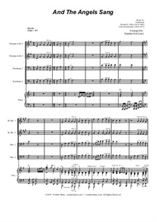 And the Angels Sang: For Brass Quartet and Piano - Alternate Version by Felix Mendelssohn-Bartholdy, folklore, Richard Storrs Willis