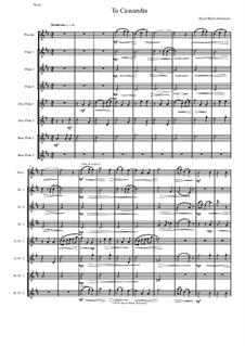 To Cassandra: For flute octet or flute choir by David W Solomons