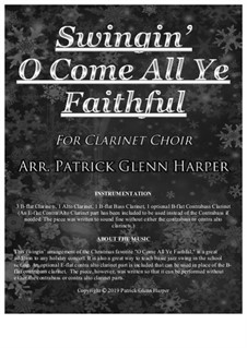 Swingin' O Come All Ye Faithful: For clarinet choir by folklore