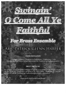 Swingin' O Come All Ye Faithful: For brass ensemble by folklore