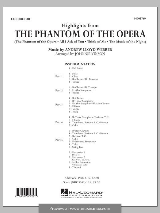 Highlights: Conductor score by Andrew Lloyd Webber