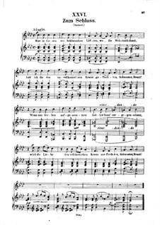 No.26 Zum Schluss (At the Last): Piano-vocal score (German text) by Robert Schumann