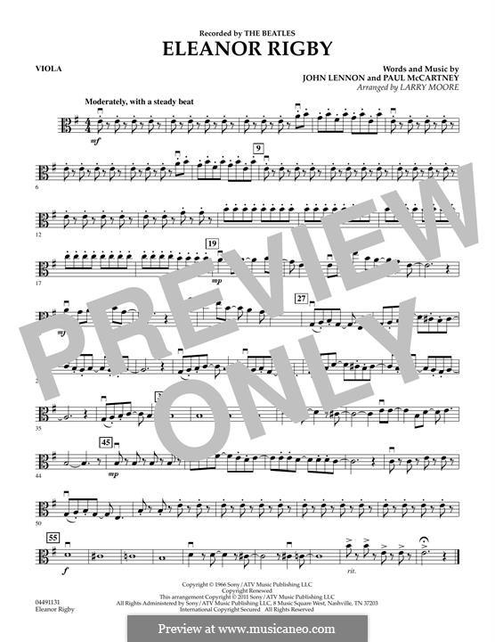 Eleanor Rigby (The Beatles): Viola part by John Lennon, Paul McCartney