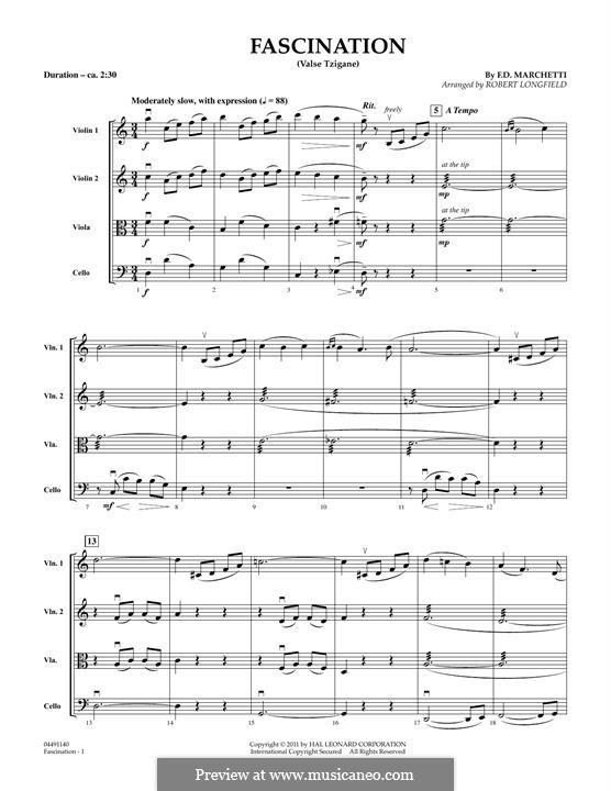 Fascination: Conductor score (full score) by Fermo Dante Marchetti