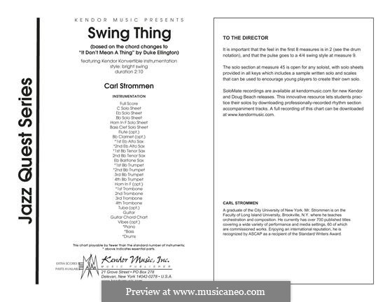 Swing Thing - Full Score: Swing Thing - Full Score by Carl Strommen