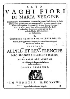 Vaghi fiori di Maria Vergine, Op.2: Vaghi fiori di Maria Vergine by Vincenzo Scapitta