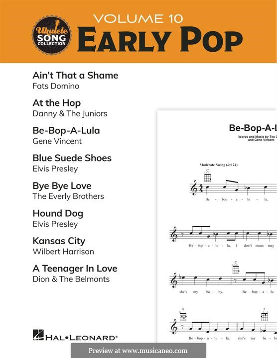 Ukulele Song Collection, Volume 10: Early Pop: Ukulele Song Collection, Volume 10: Early Pop by Antoine Domino, Arthur Singer, Dave Bartholomew, David White, Gene Vincent, John Medora, Sheriff Tex Davis