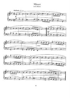 Minuet in G Minor: For harpsichord by Johann Sebastian Bach
