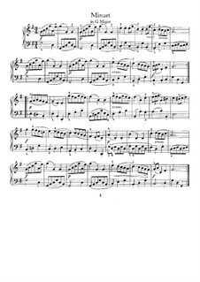 No.7 Minuet in G Major, BWV Anh.116: For harpsichord by Johann Sebastian Bach