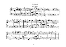 No.14 Minuet in A Minor, BWV Anh.120: For harpsichord by Johann Sebastian Bach