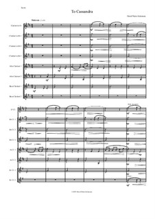 To Cassandra: For clarinet octet or clarinet choir by David W Solomons