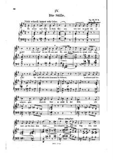 No.4 Die Stille (Stillness): Piano-vocal score (German text) by Robert Schumann