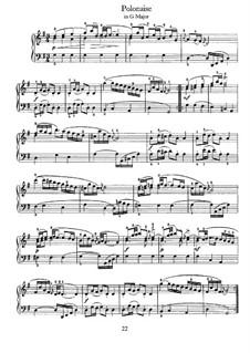 No.28 Polonaise in G Major, BWV Anh.130: For harpsichord by Johann Sebastian Bach