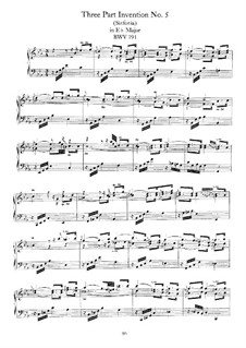 No.5 in E Flat Major, BWV 791: For harpsichord by Johann Sebastian Bach