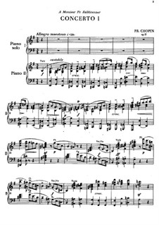 Fragments: Movement I. Version for two pianos four hands by Frédéric Chopin
