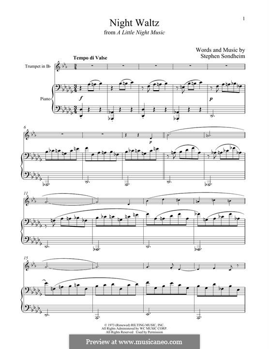 Night Waltz (from A Little Night Music): For trumpet and piano by Stephen Sondheim
