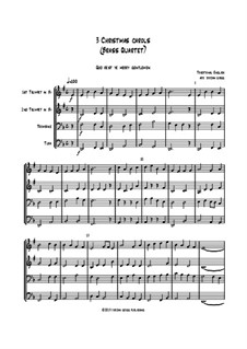 3 Christmas Carols: For brass quartet by folklore