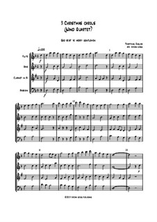 3 Christmas Carols: For wind quartet by folklore