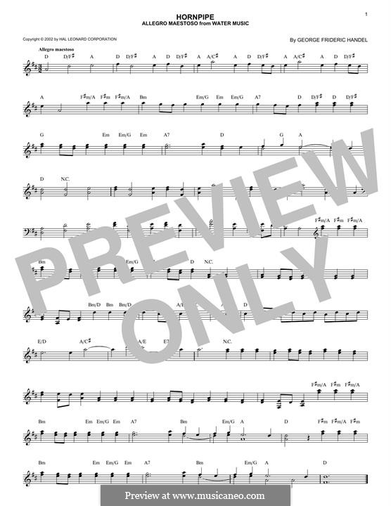 Suite No.1 in F Major, HWV 348: Allegro, for any instrument by Georg Friedrich Händel