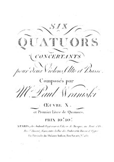 Six String Quartets, Op.10: Complete set by Paul Wranitzky