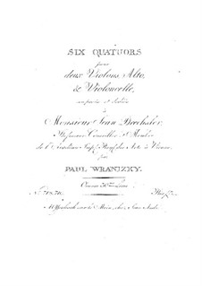 Six String Quartets, Op.30: Quartets No.1-3 by Paul Wranitzky