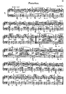 Mazurkas (Collection): No.1-13 by Frédéric Chopin