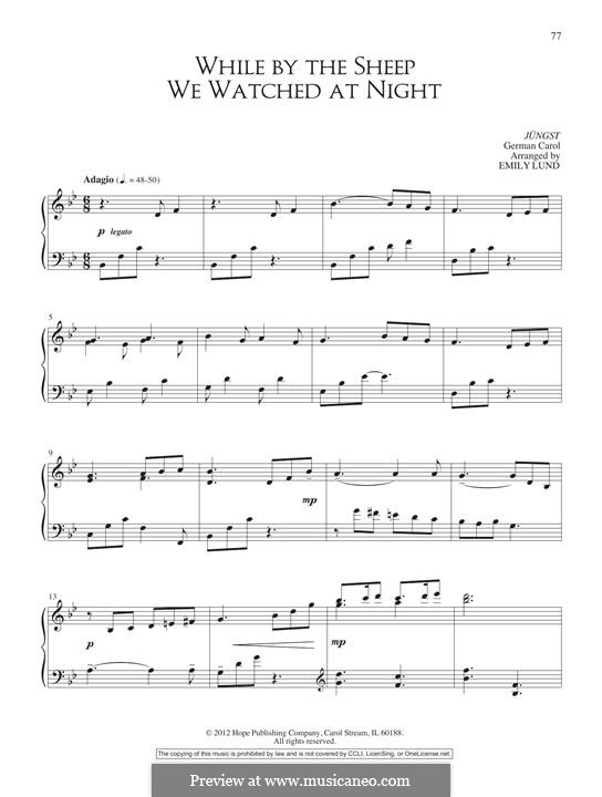 While By My Sheep: For piano by folklore
