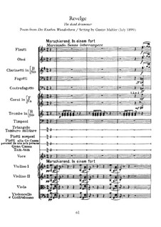 Des Knaben Wunderhorn (The Youth's Magic Horn): Reveille (Revelge) by Gustav Mahler