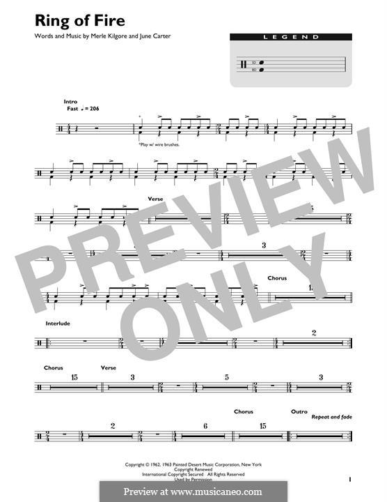 Ring of Fire: Drum set by June Carter, Merle Kilgore