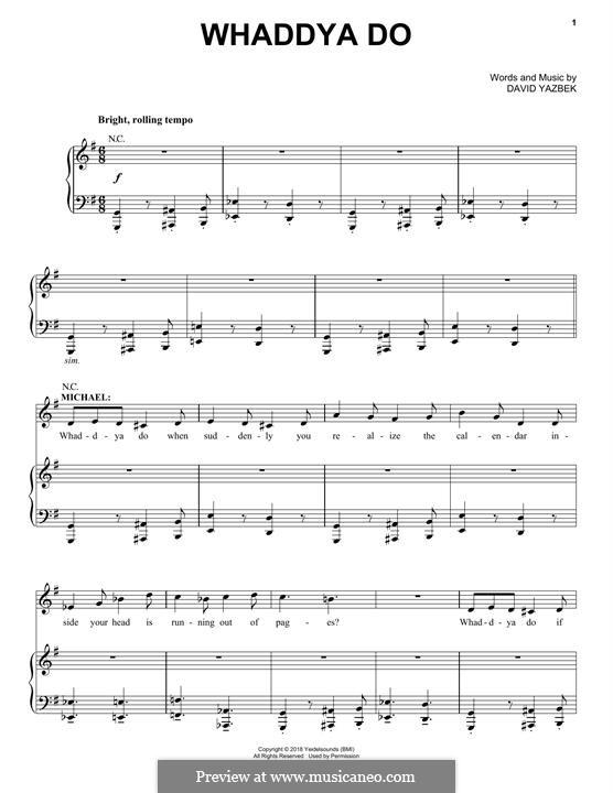 Whaddya Do (from the musical Tootsie): Whaddya Do (from the musical Tootsie) by David Yazbek