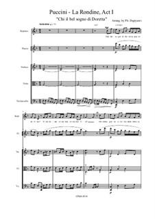 La Rondine: Chi il bel sogno di Doretta by Giacomo Puccini