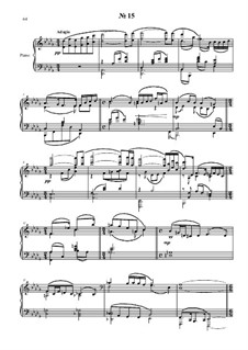 24 preludies and fugues for piano: No.15 by Vladimir Polionny