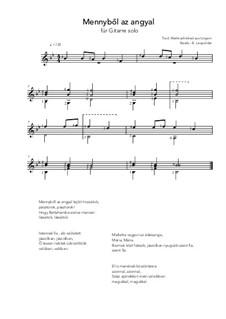 Mennybol az angyal: For guitar solo (B flat Major) by folklore