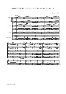 Concerto for Strings in C Major, RV 114: Score and parts by Antonio Vivaldi