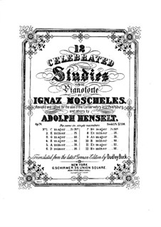 Twenty-Four Etudes for Piano, Op.70: No.1-12 by Ignaz Moscheles