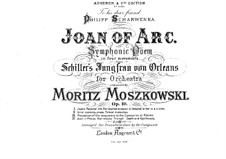 Jeanne d'Arc (Joan of Arc), Op.19: Movement I, for piano four hands by Moritz Moszkowski