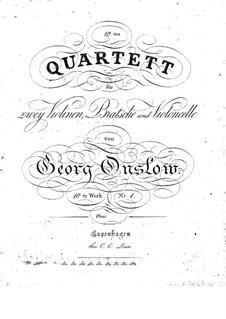 Three String Quartets No.10-12, Op.10: Parts by Georges Onslow
