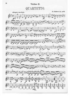 String Quartet No.9 in G Minor, D.173: Violin II part by Franz Schubert