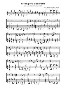 Griselda: Per la gloria d'adorarvi (for bassoon and guitar) by Giovanni Battista Bononcini