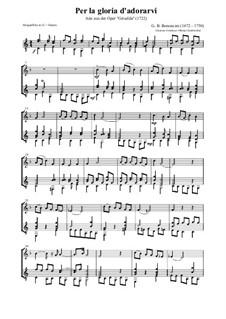 Griselda: Per la gloria d'adorarvi (for alto flute and guitar) by Giovanni Battista Bononcini