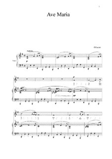 Ave Maria: For voice and piano by Giulio Caccini